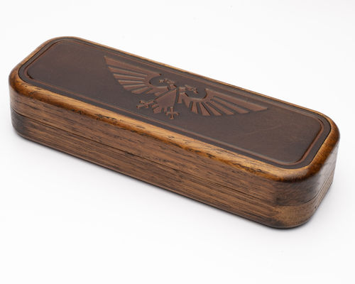Warhammer Aquila Embossed Leather Dice Box